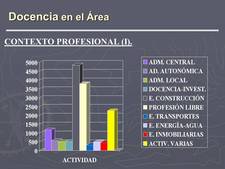 Docencia en el Área CONTEXTO PROFESIONAL (I).