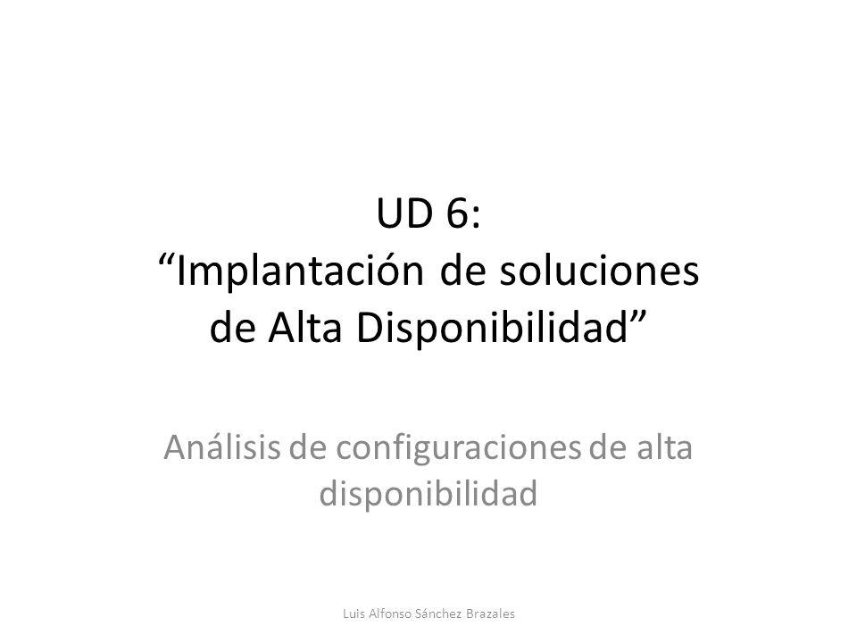 UD 6: Implantación de soluciones de Alta Disponibilidad