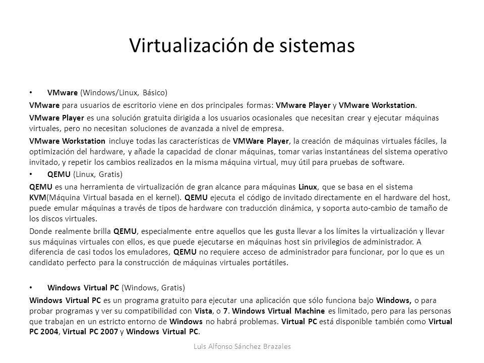 Virtualización de sistemas