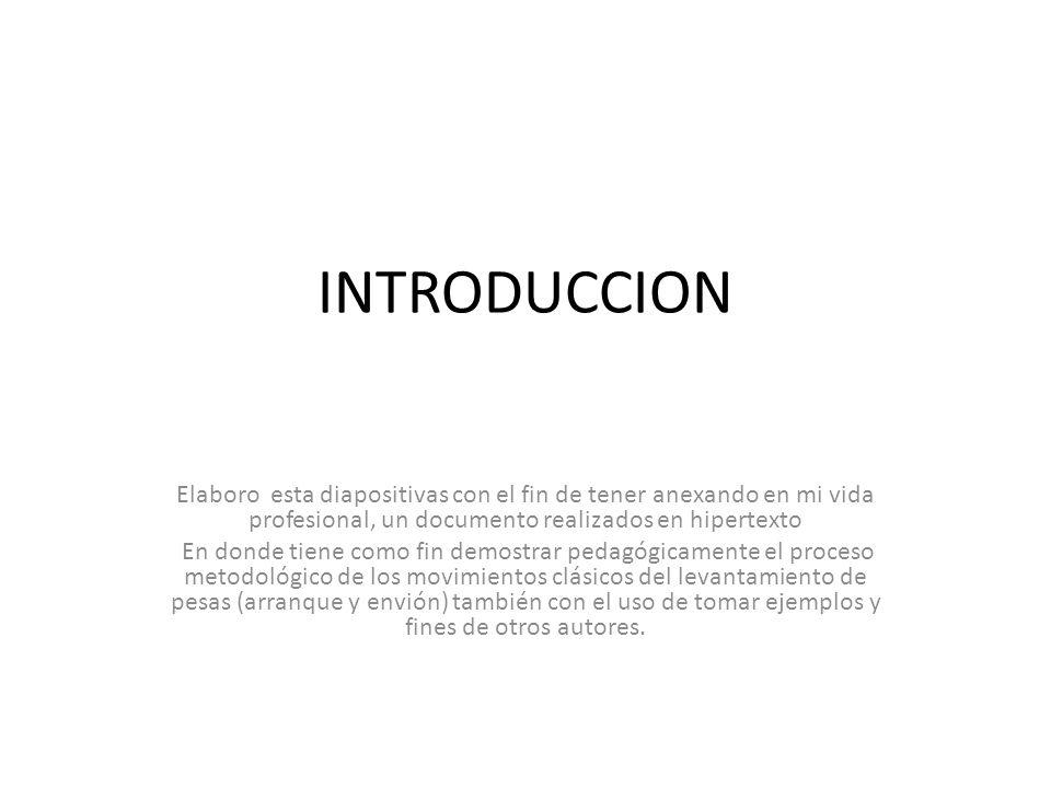 INTRODUCCION Elaboro esta diapositivas con el fin de tener anexando en mi vida profesional, un documento realizados en hipertexto.