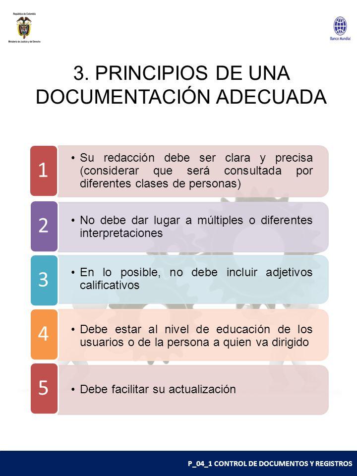 3. PRINCIPIOS DE UNA DOCUMENTACIÓN ADECUADA