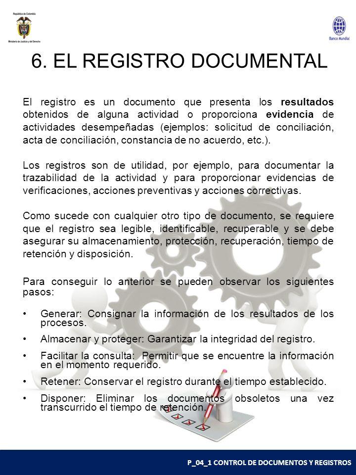 6. EL REGISTRO DOCUMENTAL