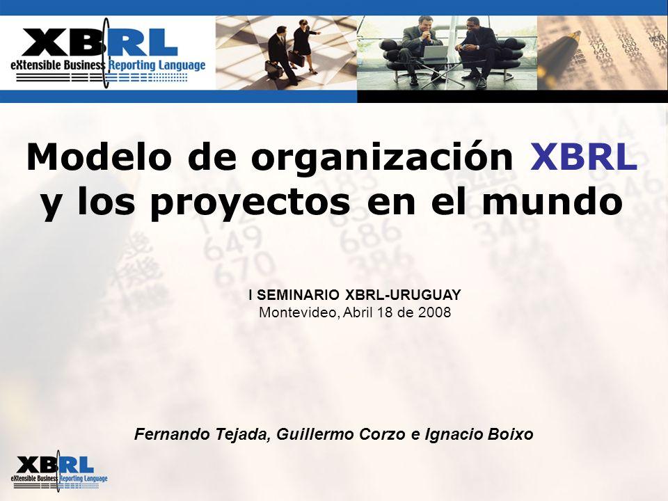 Modelo de organización XBRL y los proyectos en el mundo