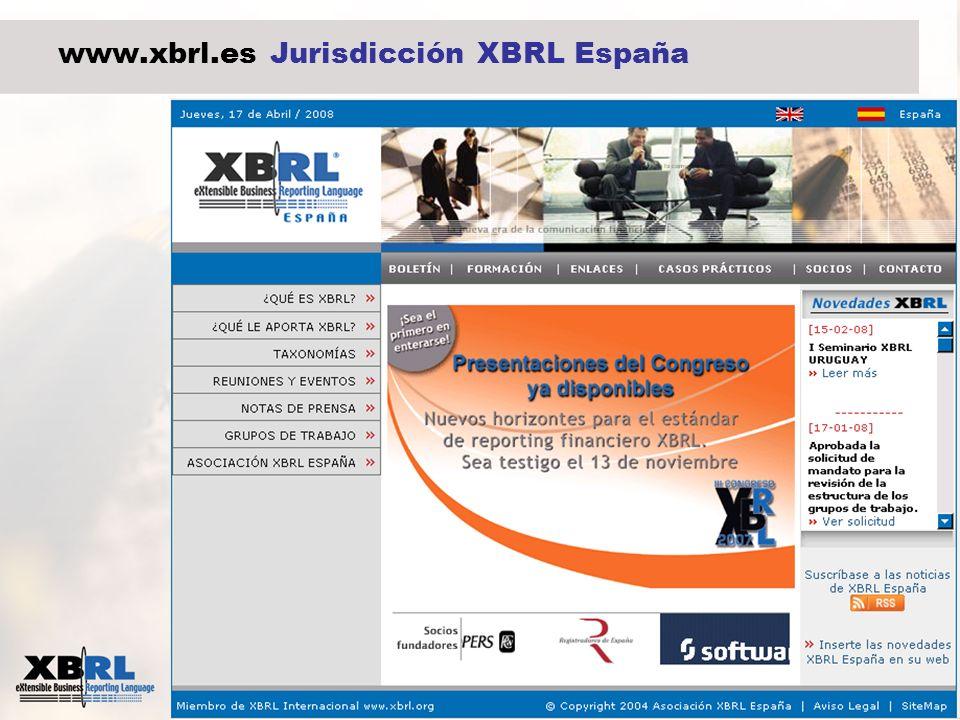 www.xbrl.es Jurisdicción XBRL España