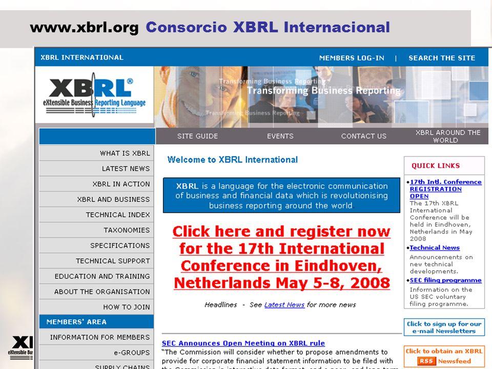 www.xbrl.org Consorcio XBRL Internacional