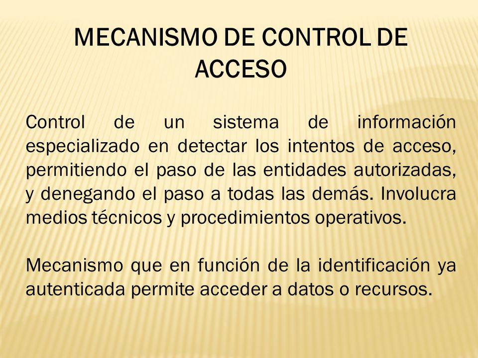 MECANISMO DE CONTROL DE ACCESO