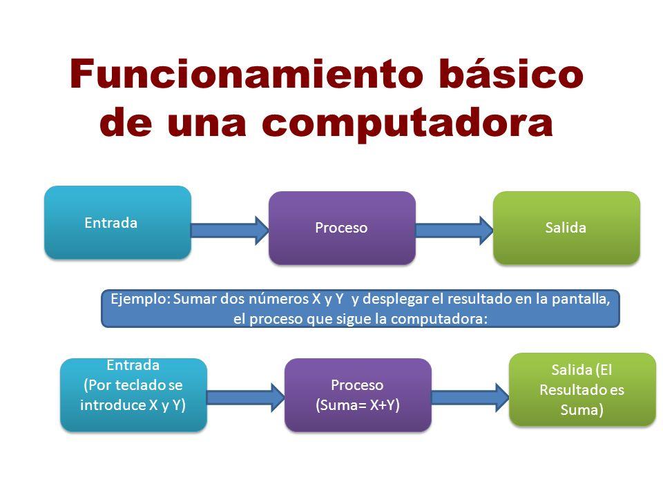 Funcionamiento básico de una computadora