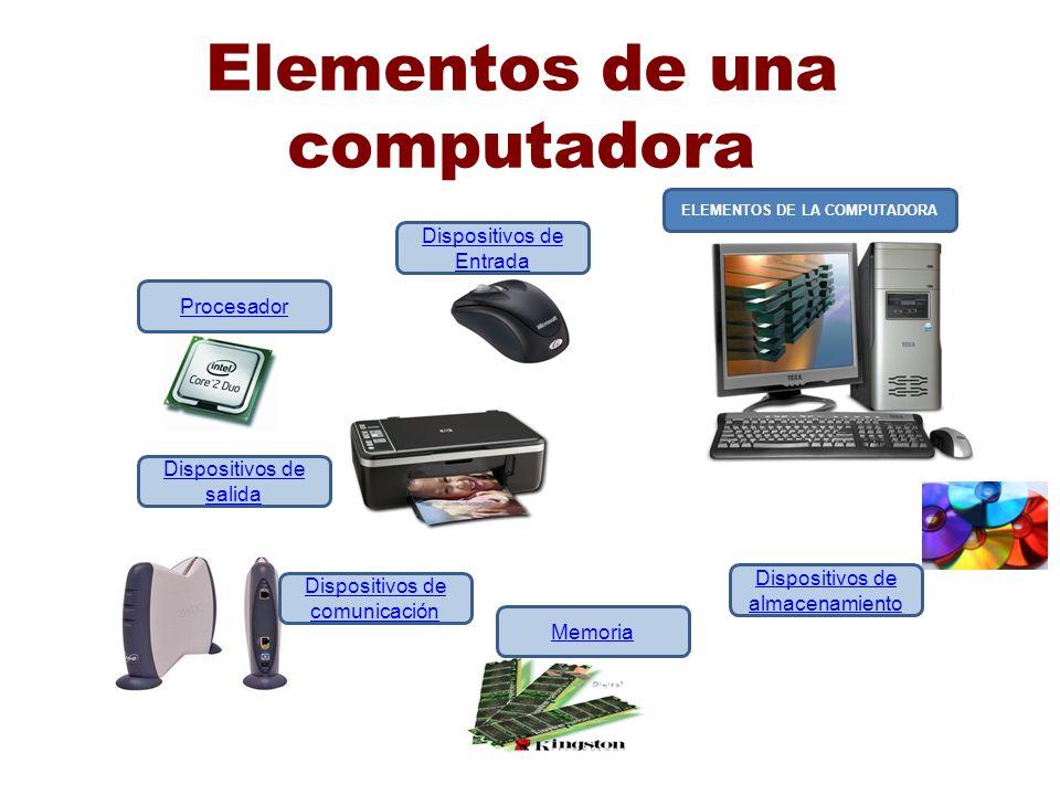 Elementos de una computadora