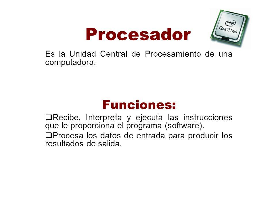 Procesador Funciones: