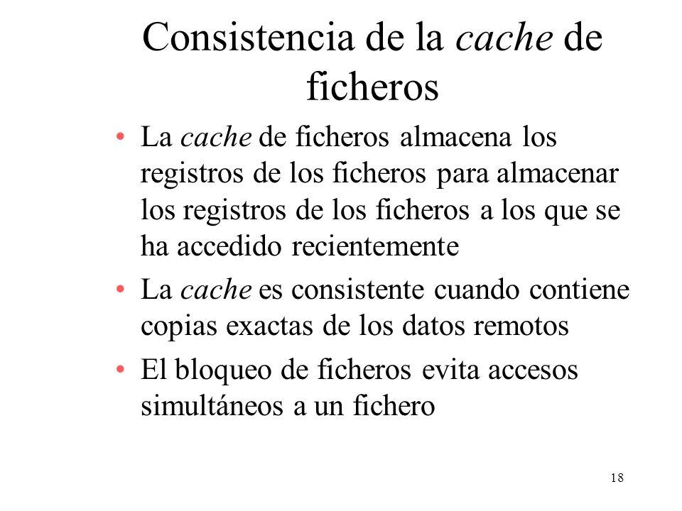 Consistencia de la cache de ficheros