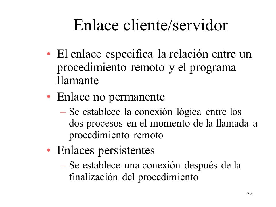 Enlace cliente/servidor