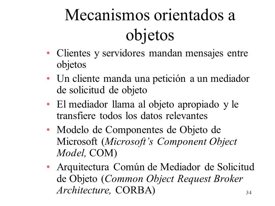 Mecanismos orientados a objetos