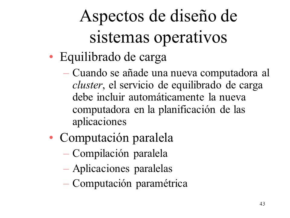 Aspectos de diseño de sistemas operativos