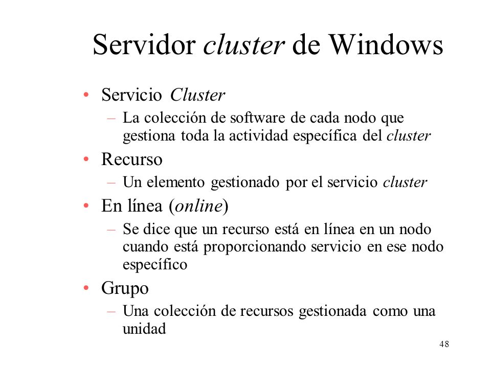 Servidor cluster de Windows