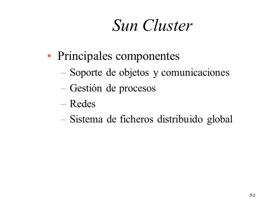 Sun Cluster Principales componentes