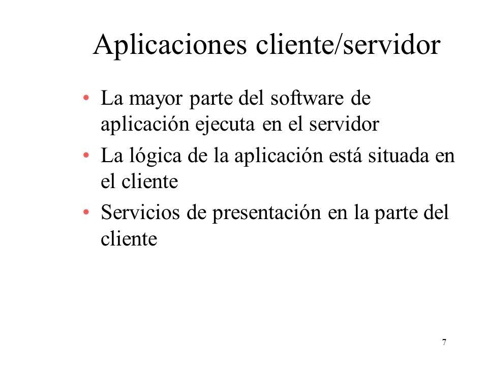 Aplicaciones cliente/servidor