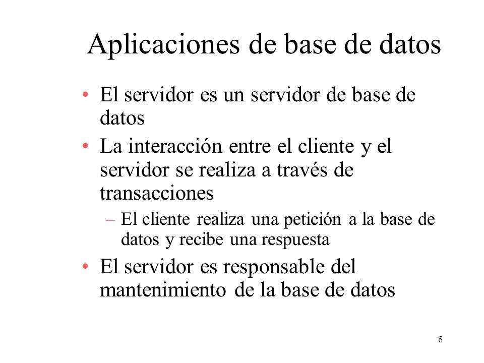 Aplicaciones de base de datos
