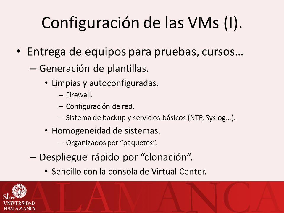 Configuración de las VMs (I).