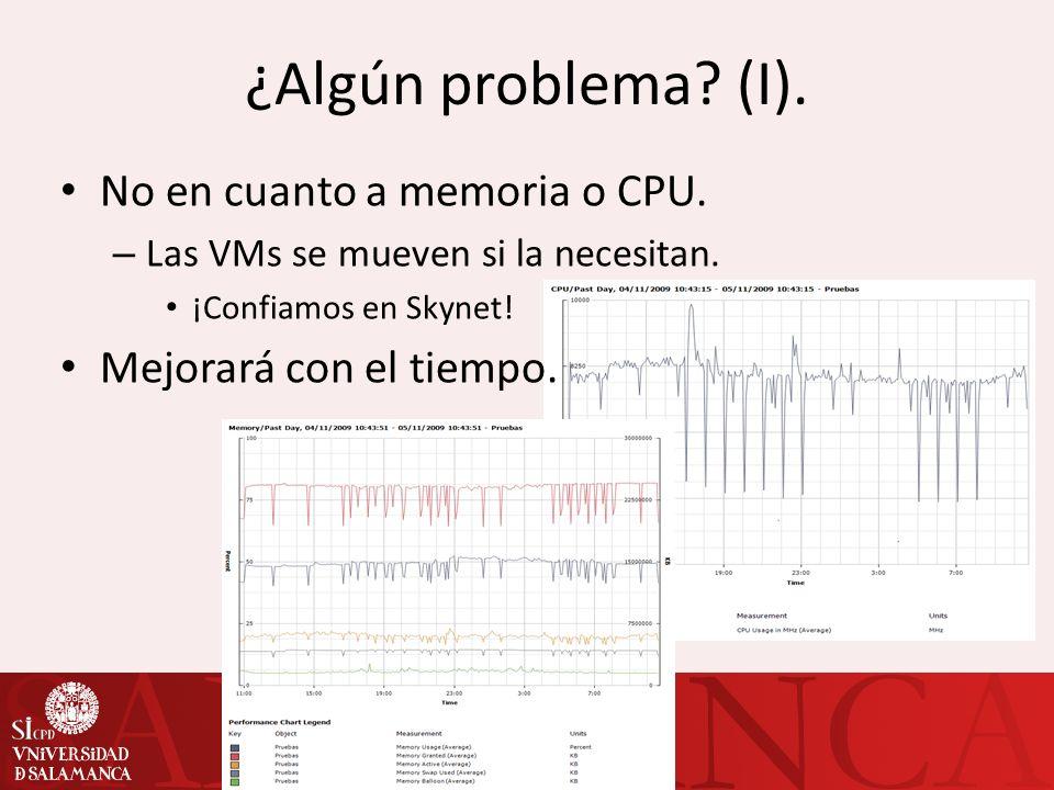 ¿Algún problema (I). No en cuanto a memoria o CPU.