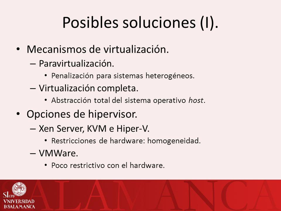Posibles soluciones (I).