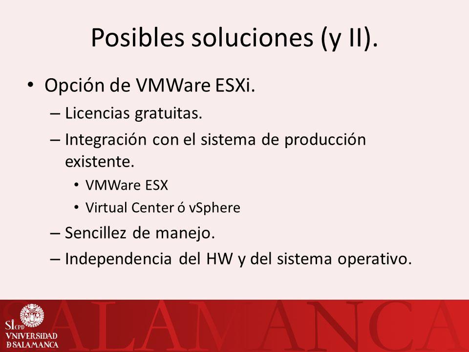 Posibles soluciones (y II).