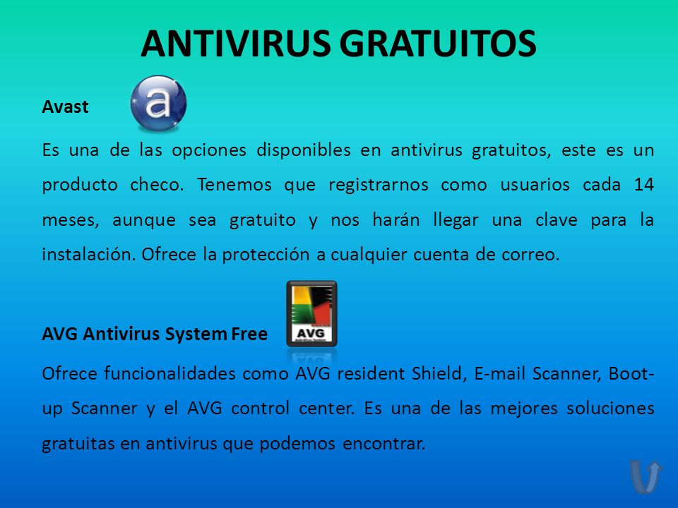 ANTIVIRUS GRATUITOS Avast