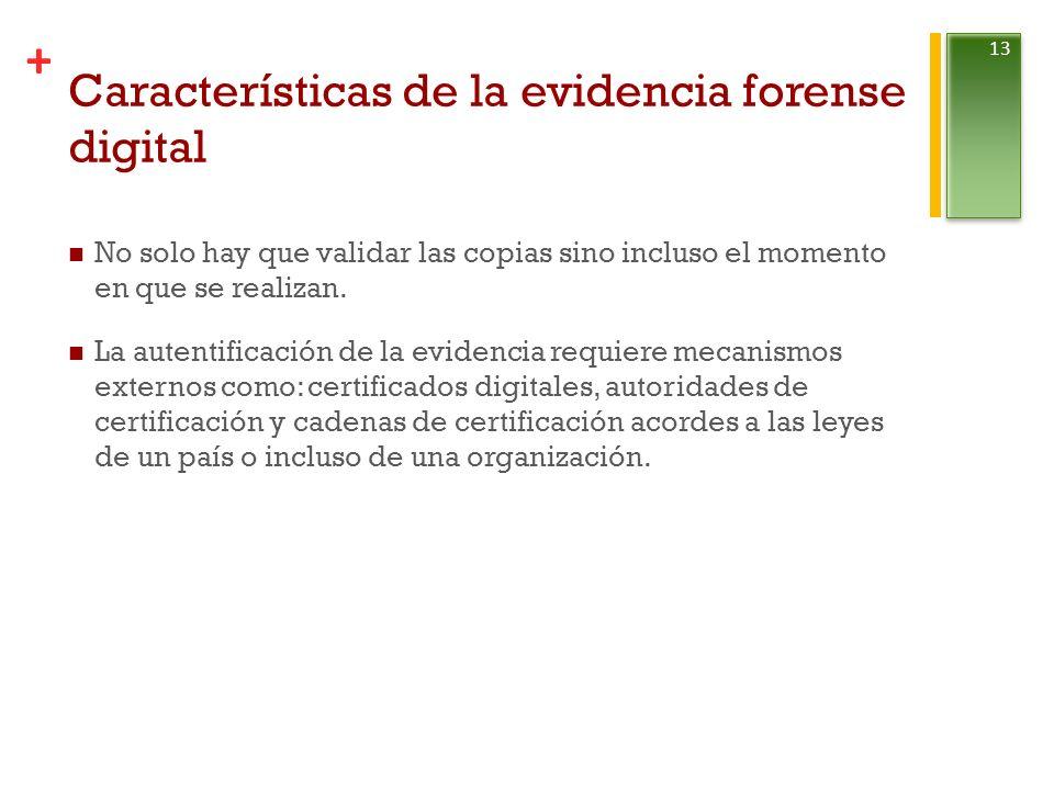 Características de la evidencia forense digital