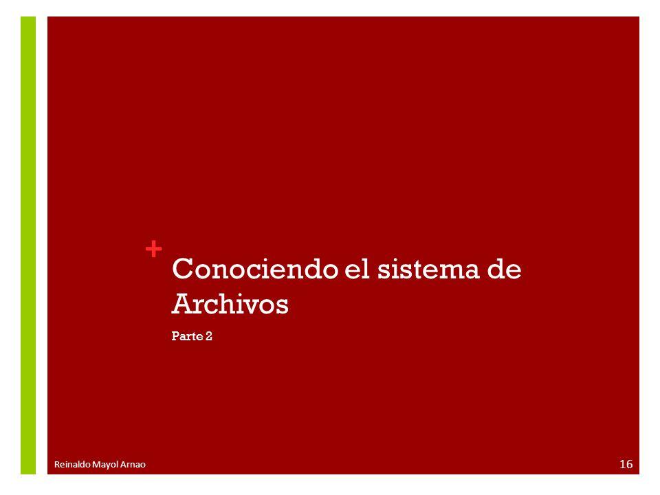 Conociendo el sistema de Archivos