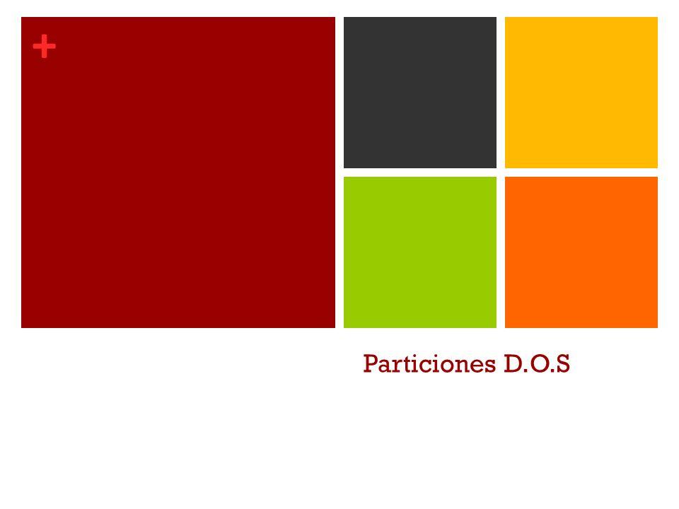 Particiones D.O.S