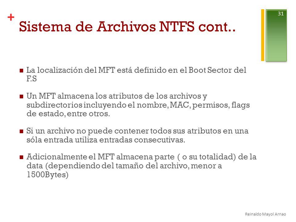 Sistema de Archivos NTFS cont..