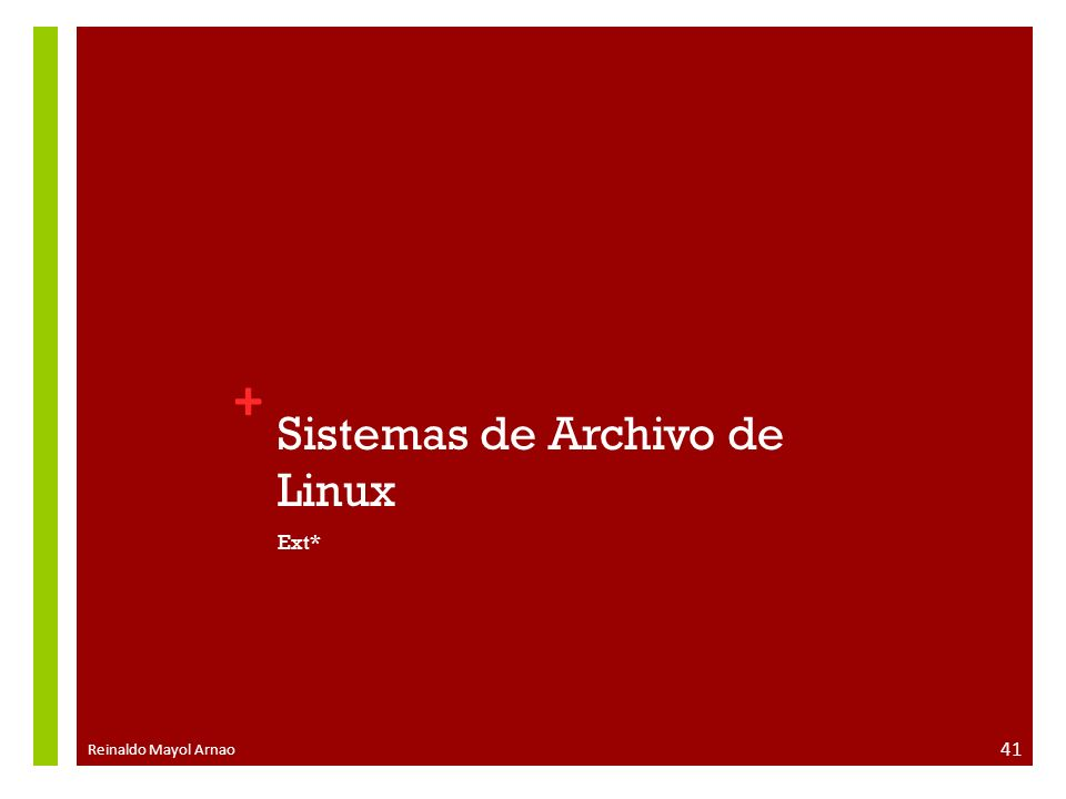 Sistemas de Archivo de Linux