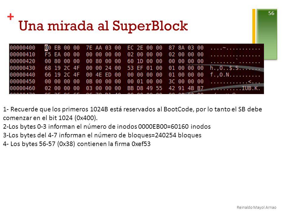 Una mirada al SuperBlock