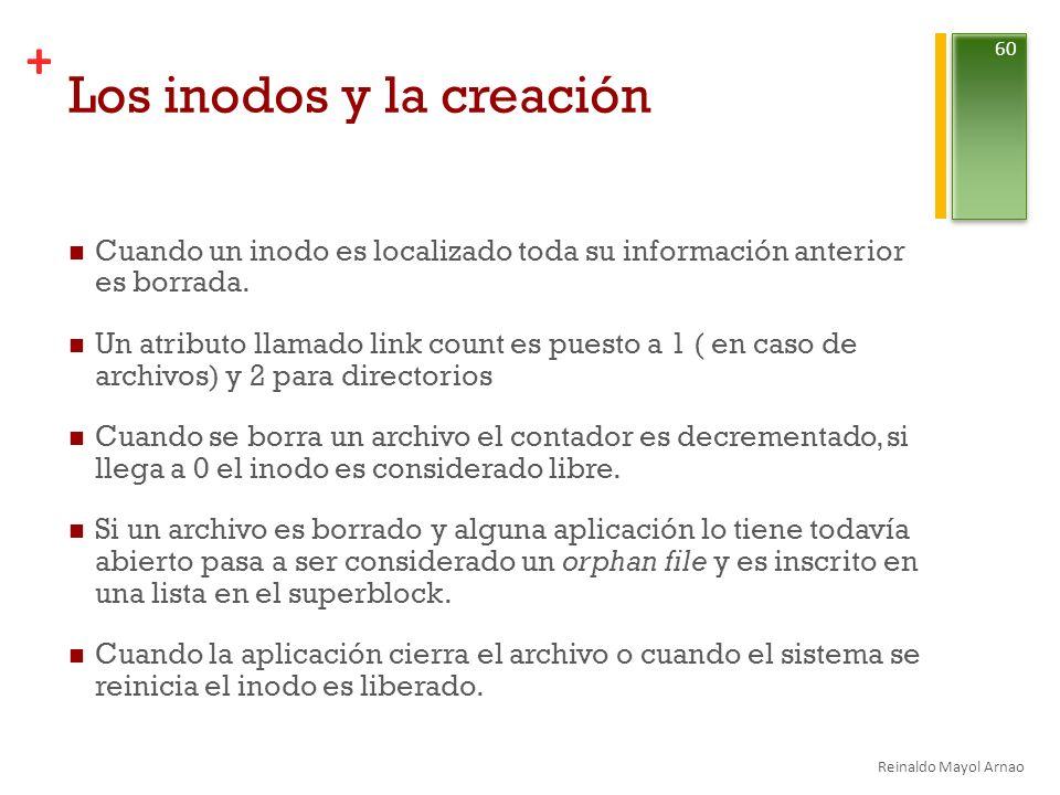 Los inodos y la creación