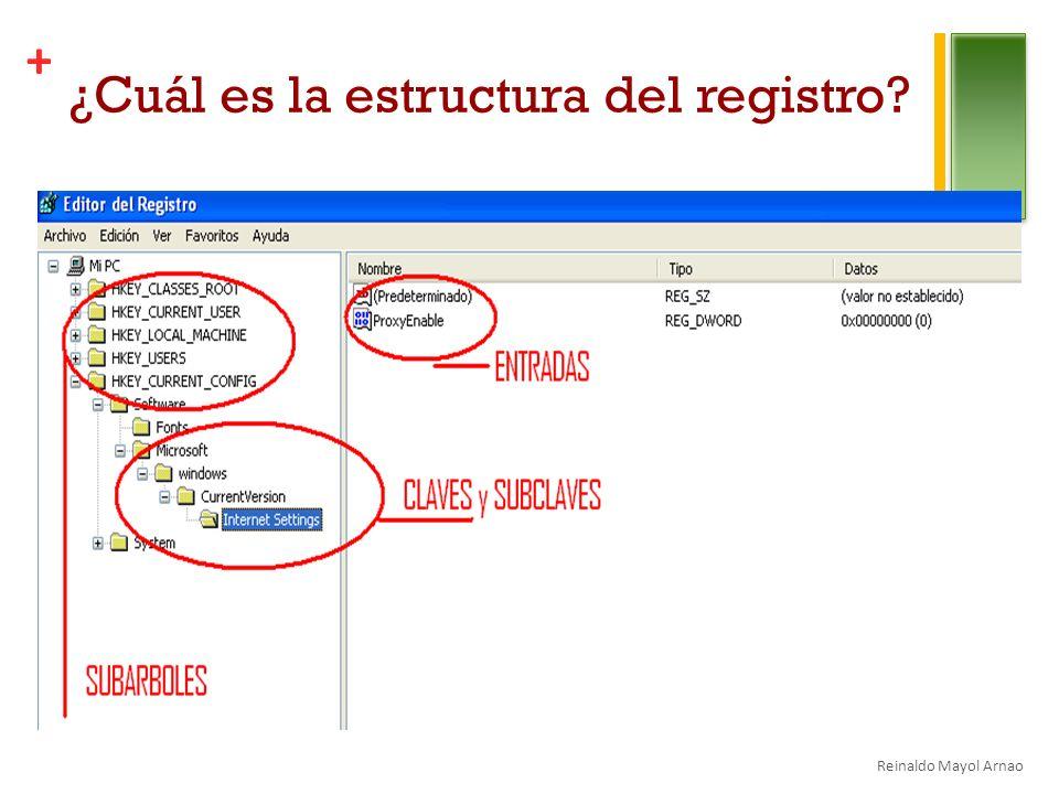 ¿Cuál es la estructura del registro