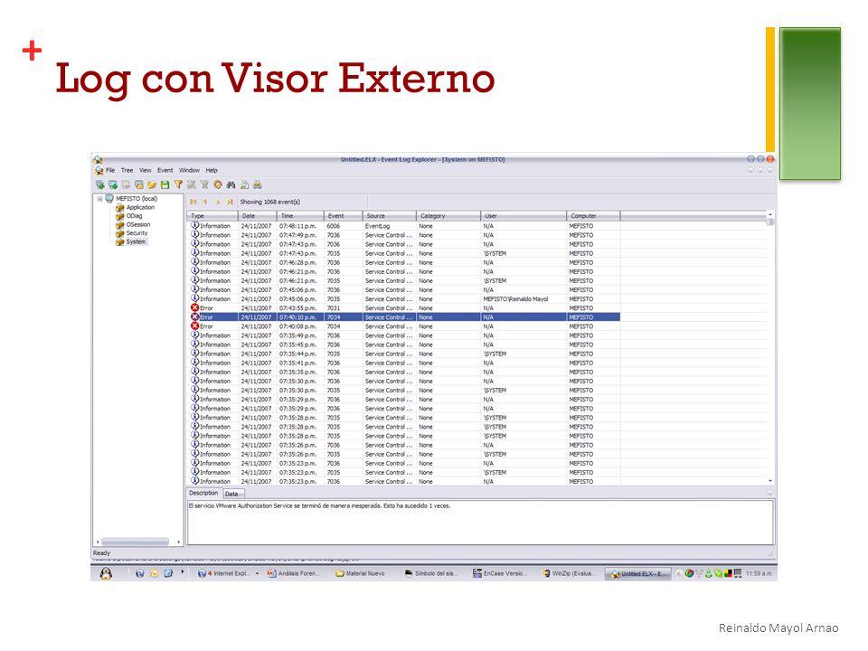 Log con Visor Externo Reinaldo Mayol Arnao