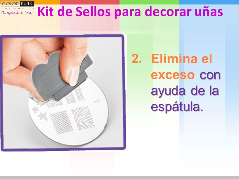 Kit de Sellos para decorar uñas