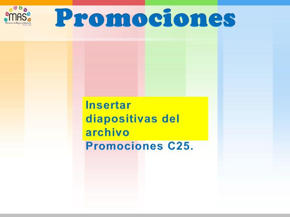 Promociones Insertar diapositivas del archivo Promociones C25.