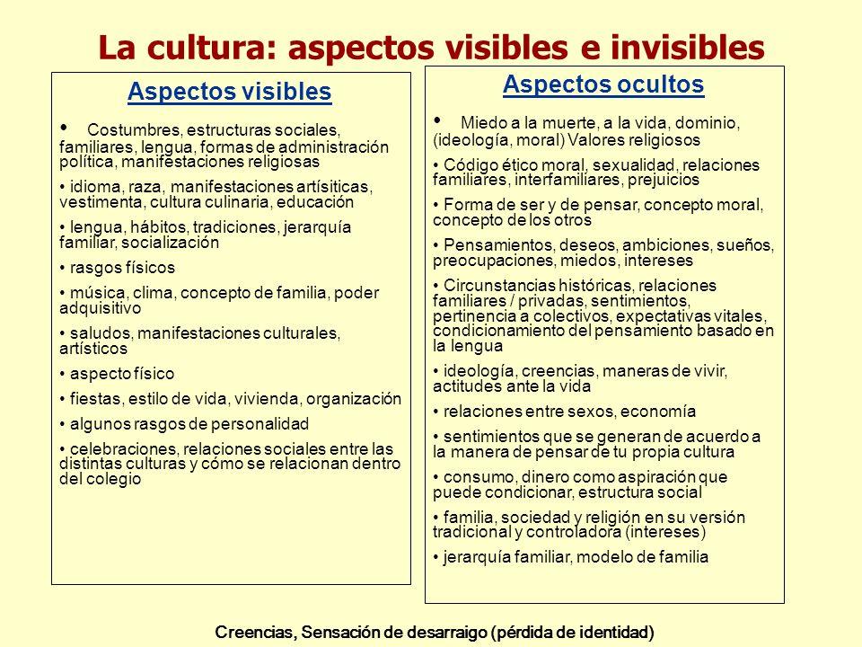 La cultura: aspectos visibles e invisibles