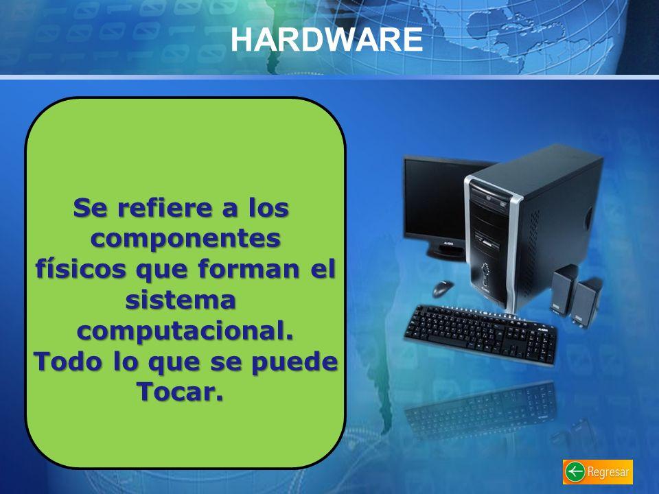 HARDWARE Se refiere a los componentes físicos que forman el sistema