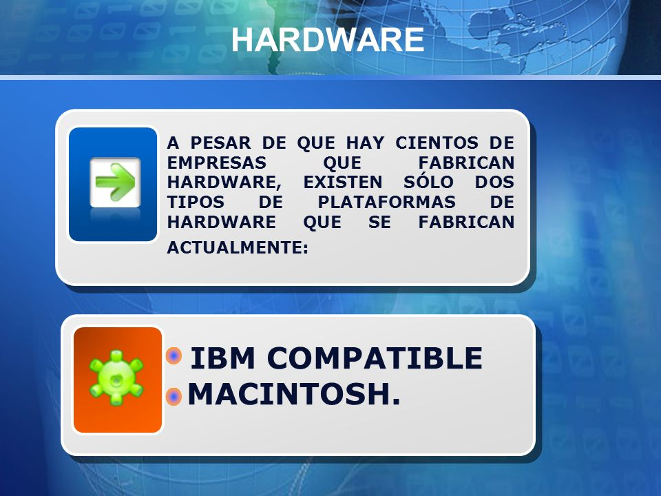 HARDWARE IBM COMPATIBLE MACINTOSH.