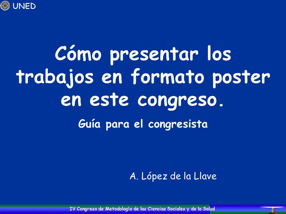 Cómo presentar los trabajos en formato poster en este congreso.