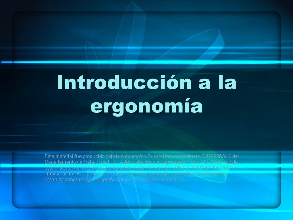 Introducción a la ergonomía