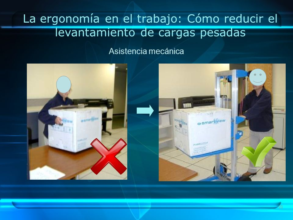 La ergonomía en el trabajo: Cómo reducir el levantamiento de cargas pesadas