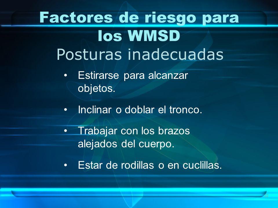 Factores de riesgo para los WMSD