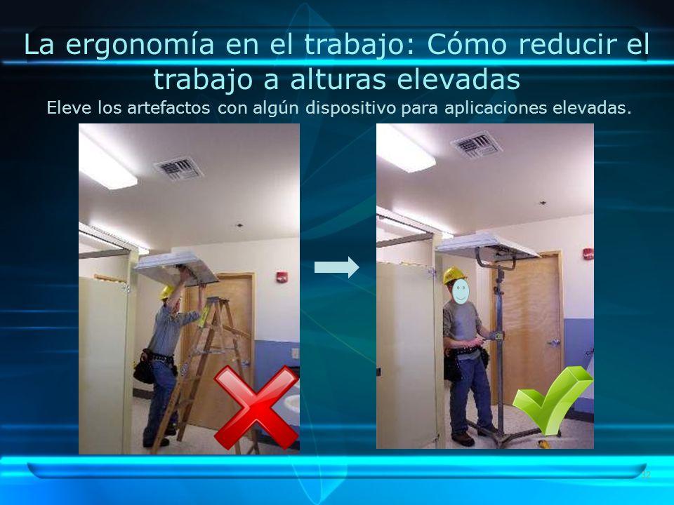 La ergonomía en el trabajo: Cómo reducir el trabajo a alturas elevadas