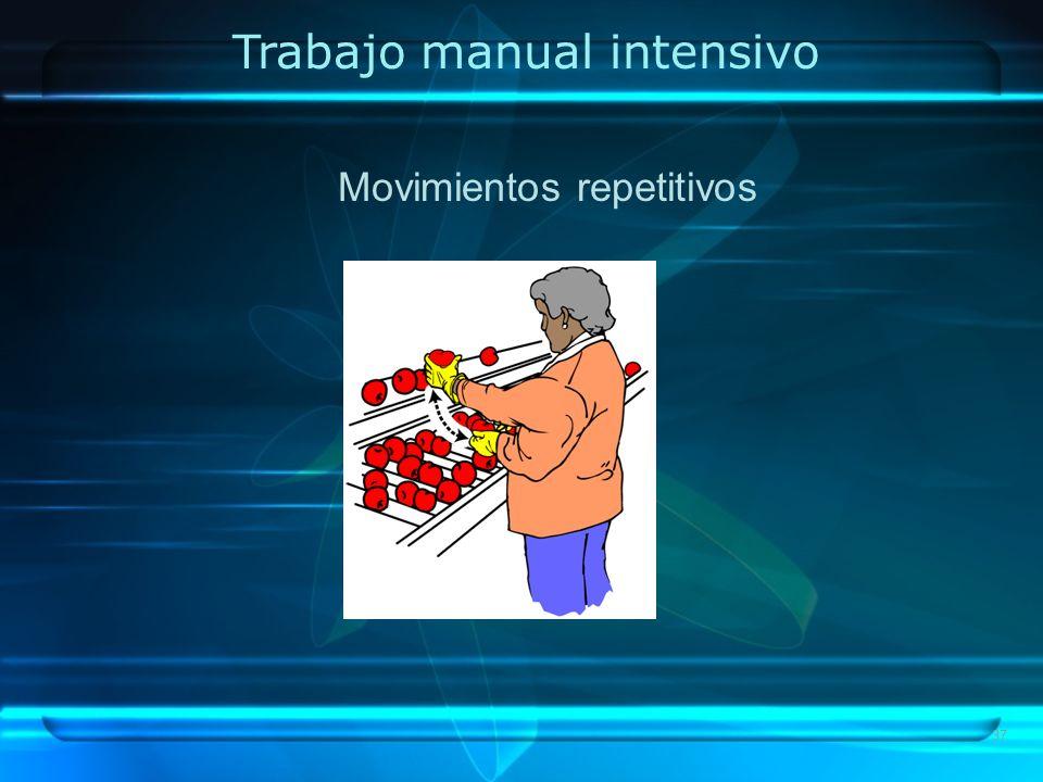 Trabajo manual intensivo