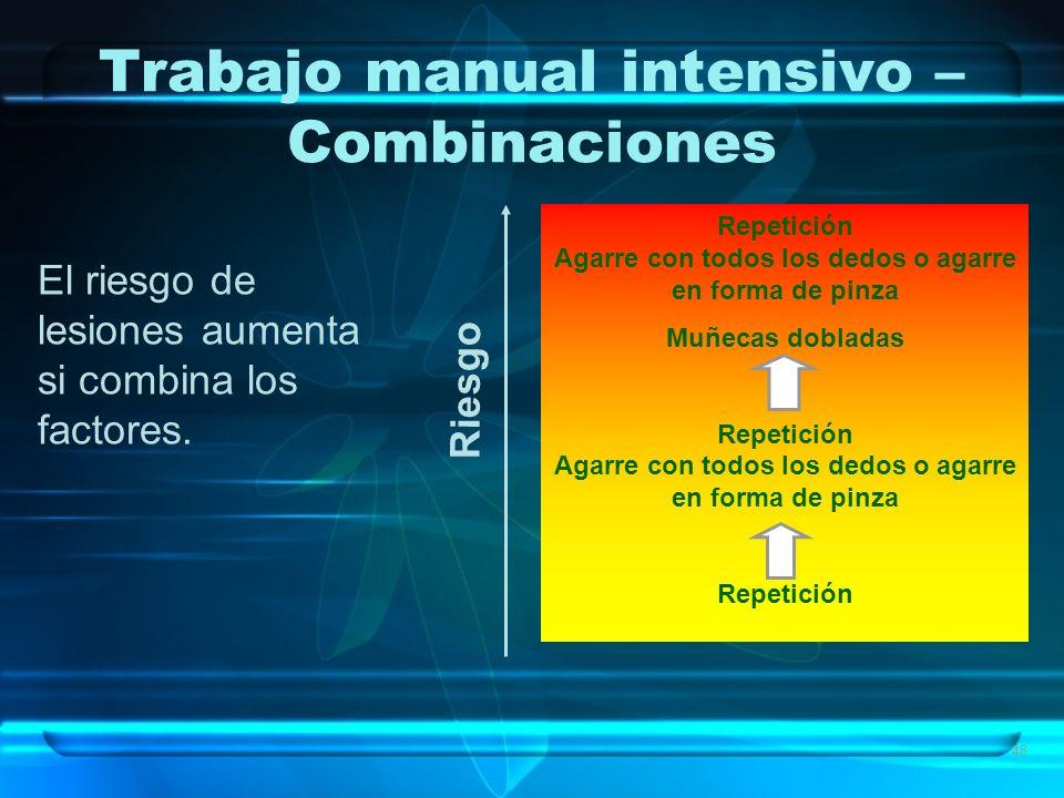 Trabajo manual intensivo – Combinaciones