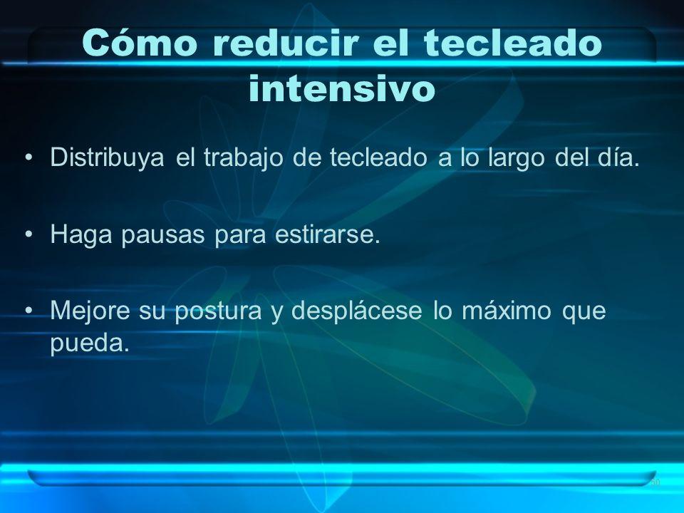 Cómo reducir el tecleado intensivo