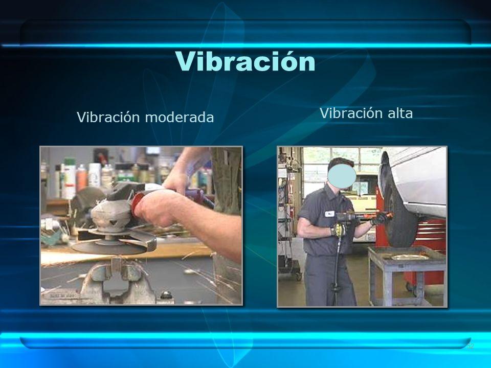 Vibración Vibración alta Vibración moderada