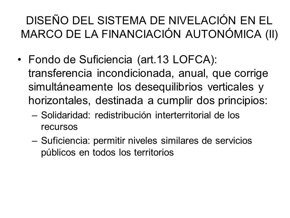 DISEÑO DEL SISTEMA DE NIVELACIÓN EN EL MARCO DE LA FINANCIACIÓN AUTONÓMICA (II)